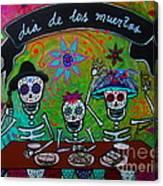 Dia De Los Muertos Familia Canvas Print