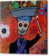 Dia De Los Muertos Fruit Vendor Canvas Print
