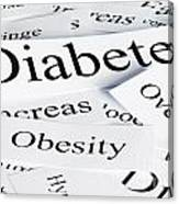 Diabetes Concept Canvas Print