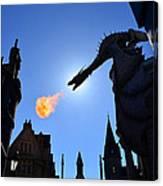 Diagon Alley Dragon Fire Canvas Print