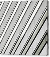 Diagonal Lines Of A Chicago Building Canvas Print
