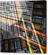 Diagonal Mondrian Canvas Print