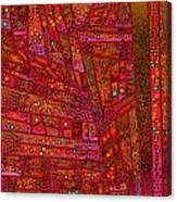 Diagonal Tiles In Reds Canvas Print