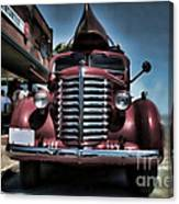 Diamond T Vintage Truck Art Canvas Print