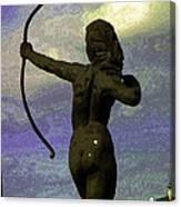 Diana-goddess Of The Hunt On B Street Canvas Print
