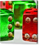 Dice - Boxcars Canvas Print