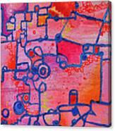 Dichotomy  Original Abstract Oil Painting By Regina Valluzzi Canvas Print