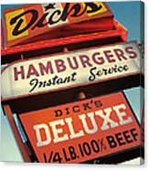 Dick's Hamburgers Canvas Print