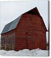 Dictionary's Red Barn Canvas Print