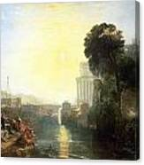 Dido Building Carthage Canvas Print