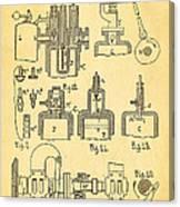 Diesel Internal Combustion Engine Patent Art 1898 Canvas Print