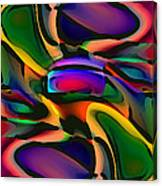Digital Abstract Citiscape 3000 Canvas Print