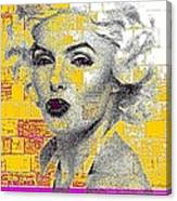 Digital Art Marilyn Canvas Print