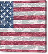 Digital Camo Us Flag Canvas Print