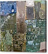 Digital D N A - Circuit Board Statue Canvas Print