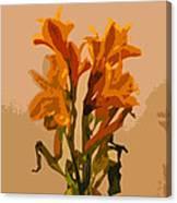 Digital Painting Lily Like Canvas Print