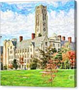 Digital Painting Of University Hall Canvas Print