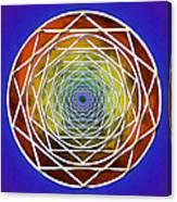 Digital Pentagon Wormhole Canvas Print