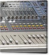 Digital Sound Mixing Console Closeup Canvas Print