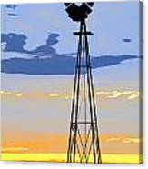 Digital Windmill-vertical Canvas Print