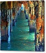 Dilapidated Dock Canvas Print
