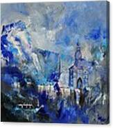 Dinant In Blue Canvas Print