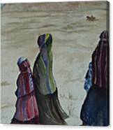 Dineh Leaving The Trading Post Canvas Print
