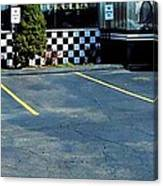 Diner At The Asphalt Headwaters Canvas Print