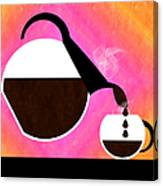 Diner Coffee Pot And Cup Sorbet Pouring Canvas Print