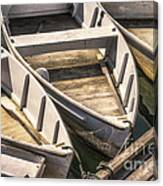 Dinghies Dockside Faded Canvas Print