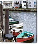 Dinghies Wait At The Pier Canvas Print