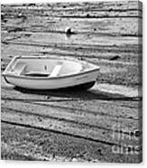 Dinghy At Low Tide Canvas Print