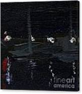 Dingle Quay By Night Detail 5 On The Wild Atlantic Way Of Western Ireland Canvas Print