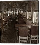 Dining Car Canvas Print