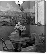 Dining Room In Helena Rubinstein's Home Canvas Print