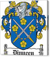 Dinneen Coat Of Arms Irish Canvas Print