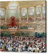 Dinner In The Salle Des Spectacles At Versailles Canvas Print