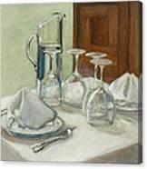 Dinner Table Canvas Print