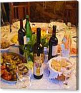 Dinner With Wine Canvas Print