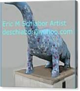 Dino The Bayville Dinosaur Canvas Print