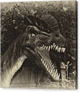 Dino's At The Zoo Come Here Cameraman In Heirloom Finish Canvas Print