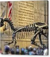 Dinosaur At The Natural History Museum Canvas Print