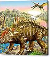 Dinosaur Panorama Canvas Print