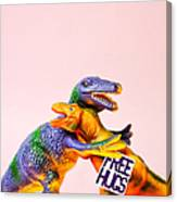 Dinosaurs Hugging Canvas Print