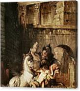 Diomedes Devoured By His Horses Canvas Print