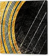 Diptych Wall Art - Macro - Gold Section 1 Of 2 - Vikings Colors - Music - Abstract Canvas Print