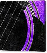 Diptych Wall Art - Macro - Purple Section 2 Of 2 - Vikings Colors - Music - Abstract Canvas Print