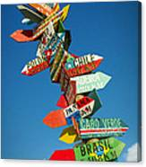 Directions Signs Canvas Print