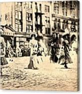Directoire Gown - Philadelphia Mummers 1909 Canvas Print