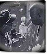 Director Martin Ritt And James Earl Jones Number 2 The Great White Hope Set Globe Arizona 1969-2013 Canvas Print